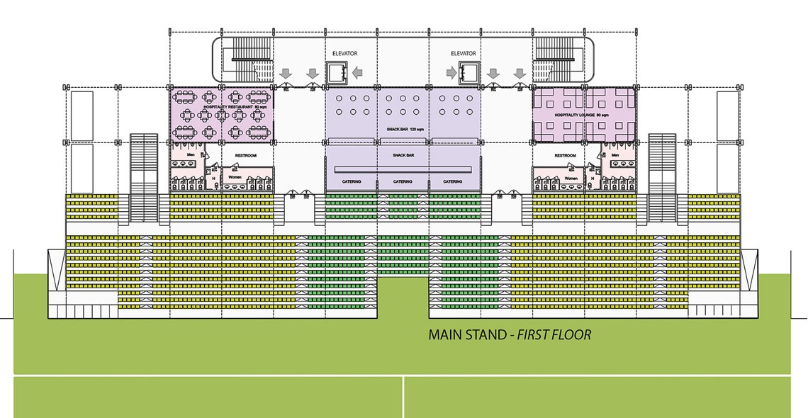 main stand first floor
