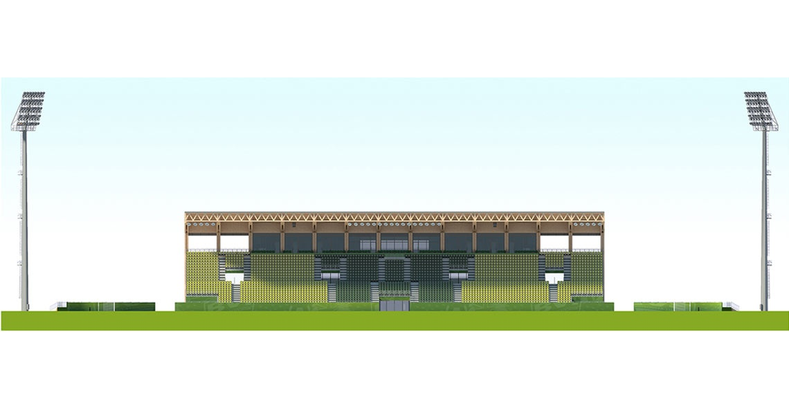 main stand front view