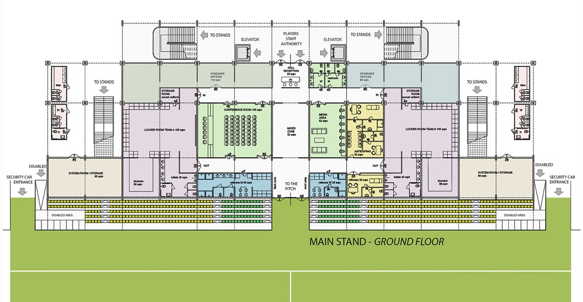 main stand ground floor