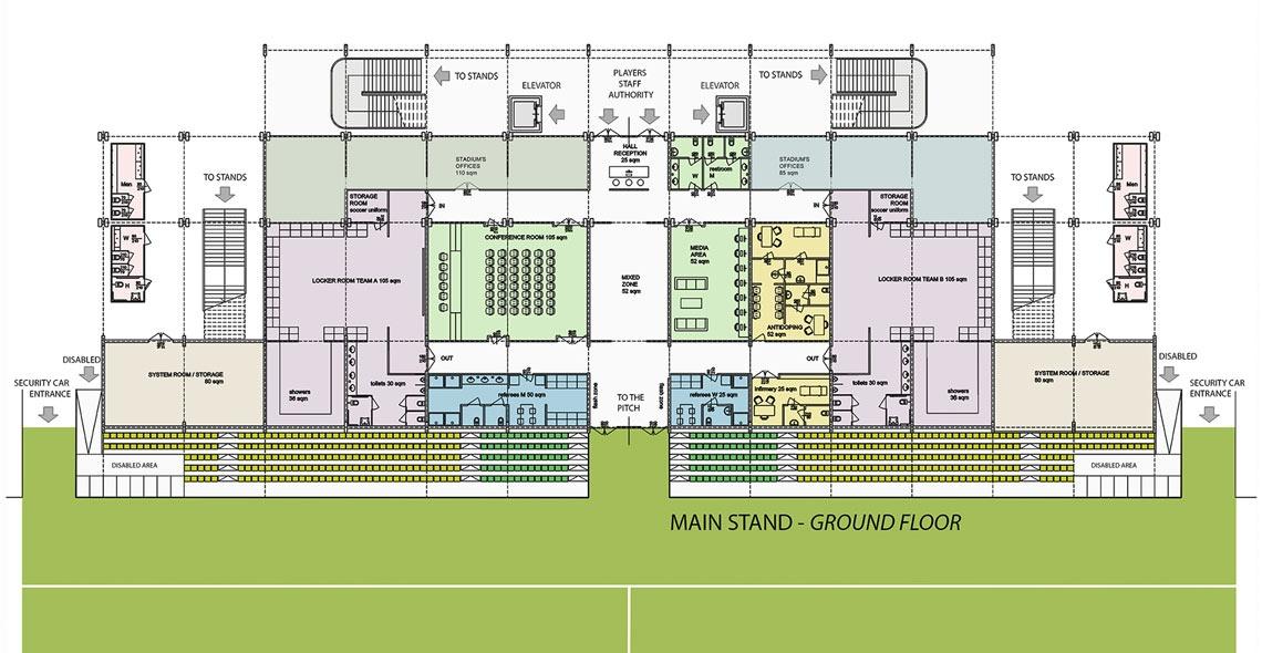 main stand ground floor