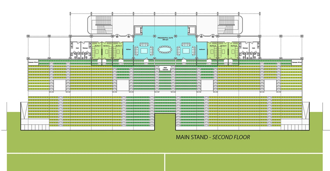 main stand second floor