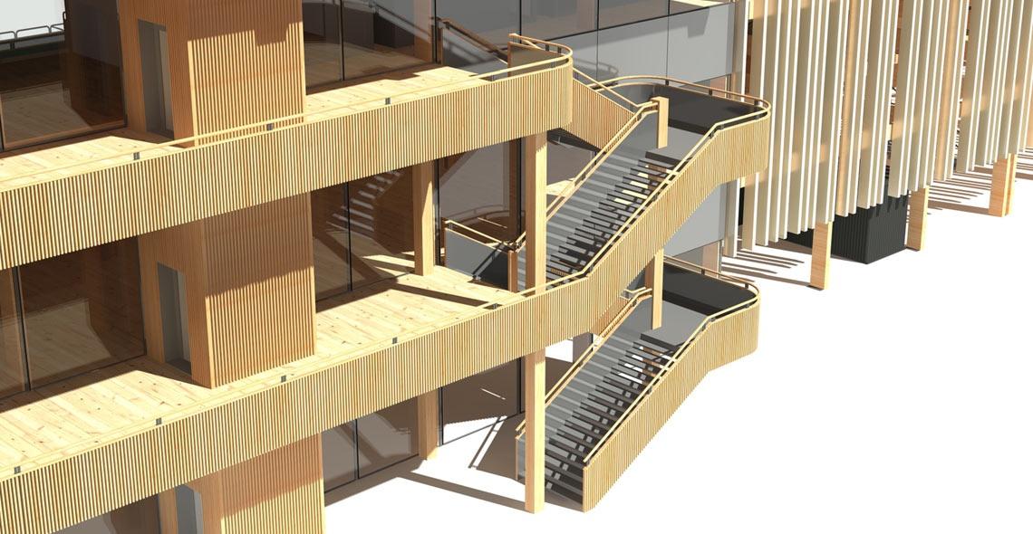 main stand stairs
